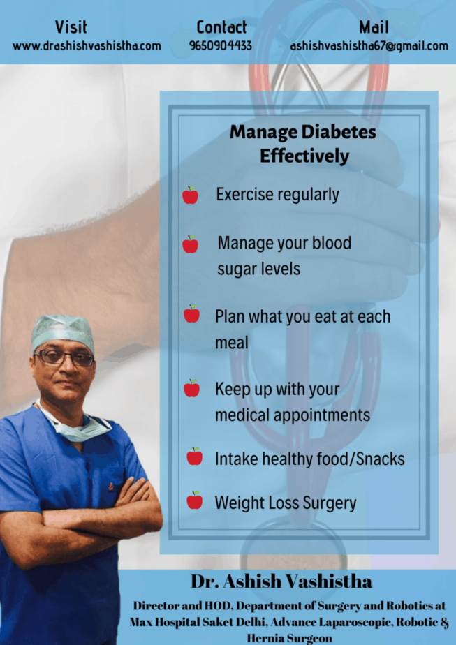 best diabetes surgeon in delhi